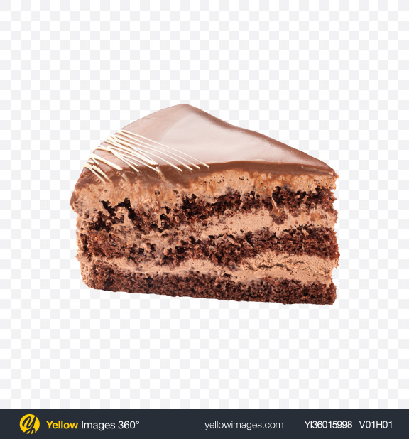 Download Chocolate Cake Slice Transparent PNG on YELLOW Images