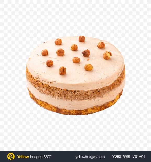 Download Hazelnut Tiramisu Cake w/ Curd Cream Transparent PNG on YELLOW Images