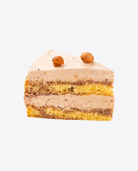 Hazelnut Tiramisu Cake w/ Curd Cream Slice