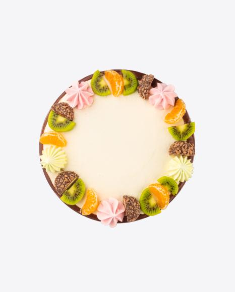 Spinach Cake w/ Curd Cream