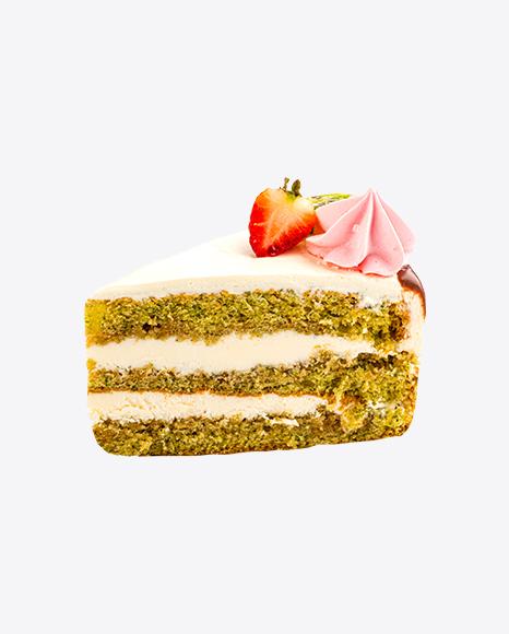 Spinach Cake w/ Curd Cream Slice
