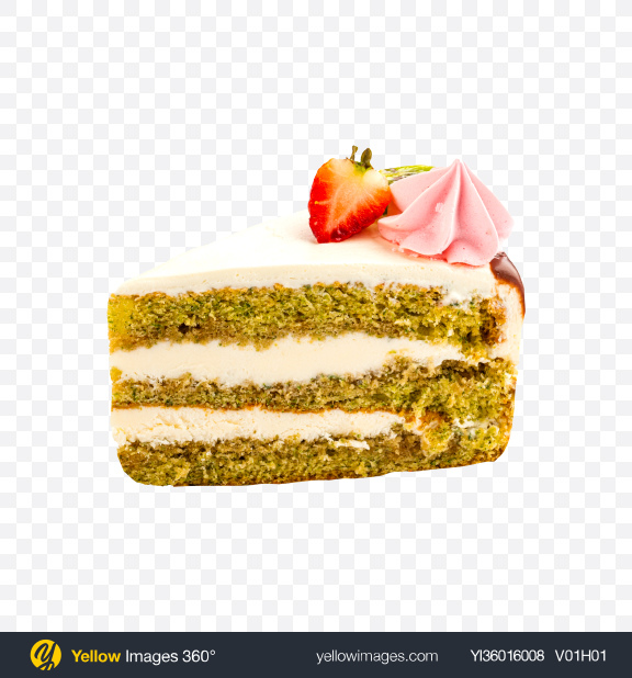 Download Spinach Cake w/ Curd Cream Slice Transparent PNG on YELLOW Images