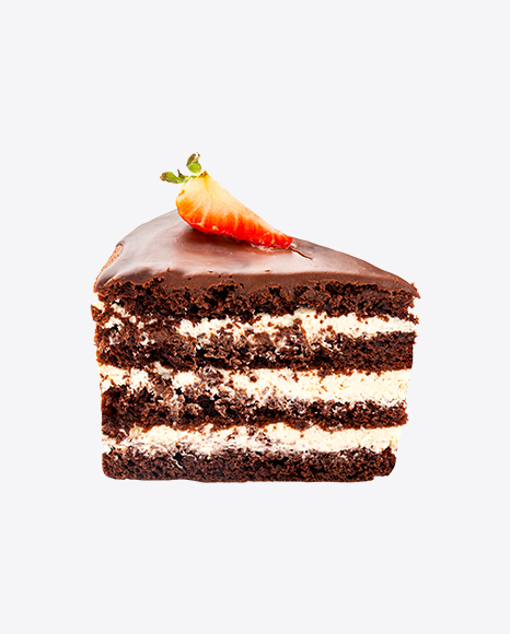 Chocolate Cake w/ Cream Slice
