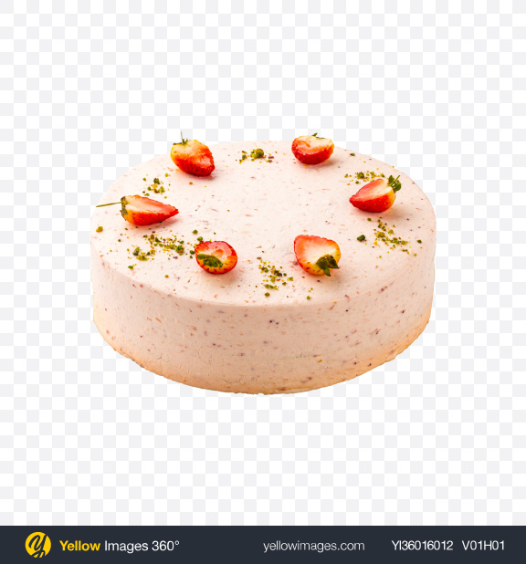 Download Strawberry Cake w/ Cheese Cream Transparent PNG on YELLOW Images