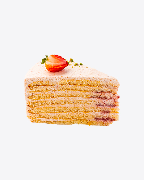 Strawberry Cake w/ Cheese Cream Slice