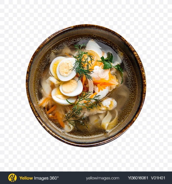 Download Classic Homemade and Quail Eggs Noodles Transparent PNG on YELLOW Images