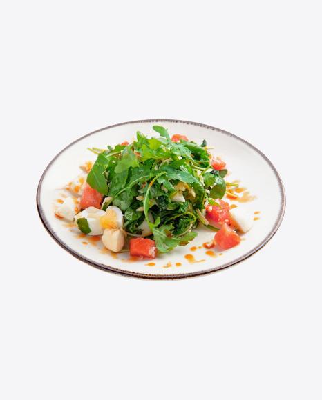 Salmon Salad w/ Boiled Eggs & Arugula