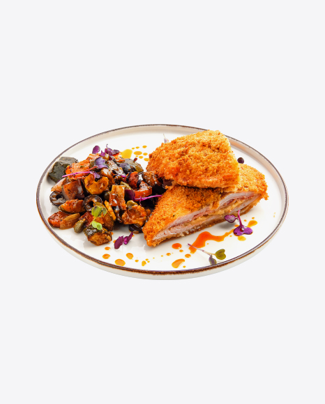 Fried Meat w/ Baked Vegetables