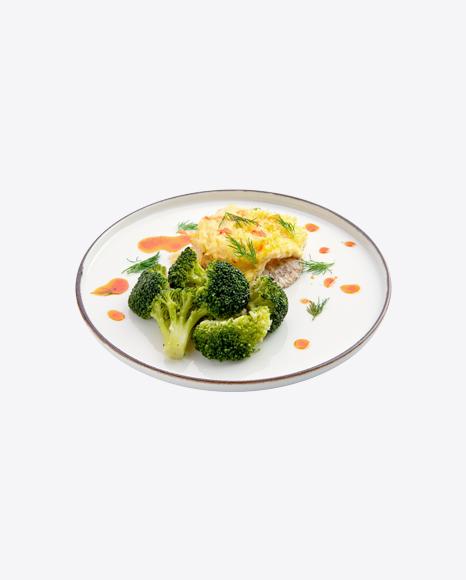 Baked Meat w/ Broccoli