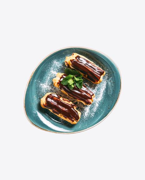 Custard Eclairs w/ Chocolate