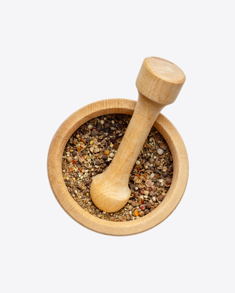 Spices Mix in Mortar w/ Pestle
