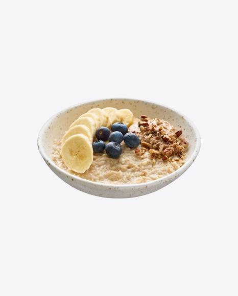 Porridge w/ Granola, Blueberries & Banana Slices