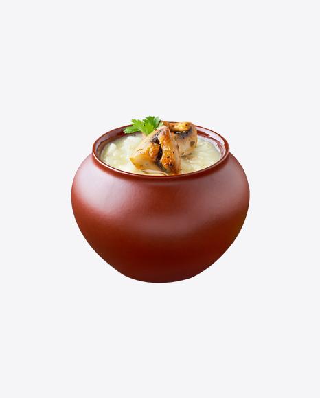 Potato Puree in Pot w/ Mushrooms
