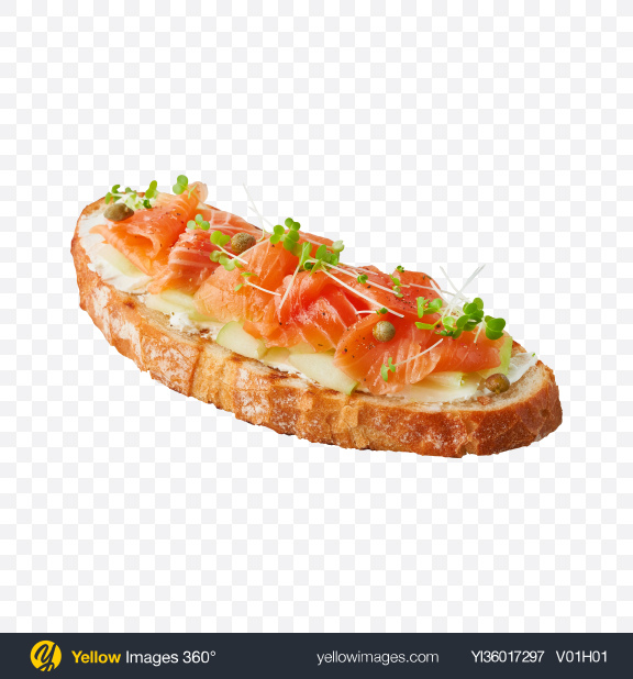 Download Salmon Toast Transparent PNG on YELLOW Images