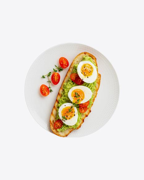 Avocado Toast w/ Tomatoes & Eggs