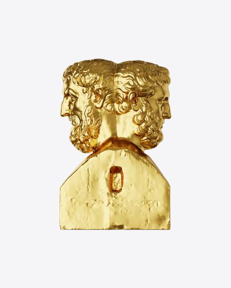 Golden Double Herm of Epicurus and Metrodorus