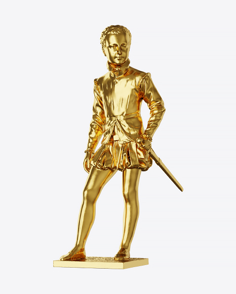 Golden Sculpture of Young King
