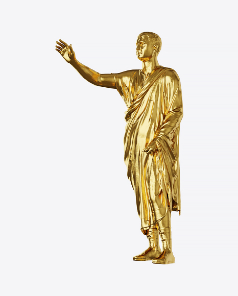 Golden Orator Sculpture