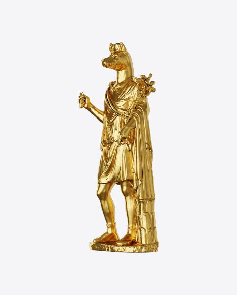 Golden Anubis Sculpture