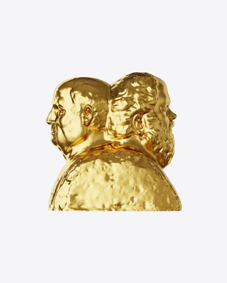 Golden Double Herm of Socrates and Seneca