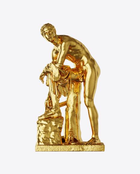 Golden Sculpture of Man