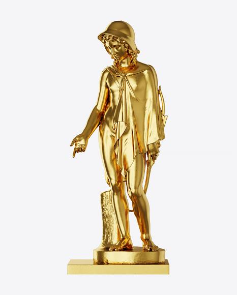 Golden Sculpture of Shepherd