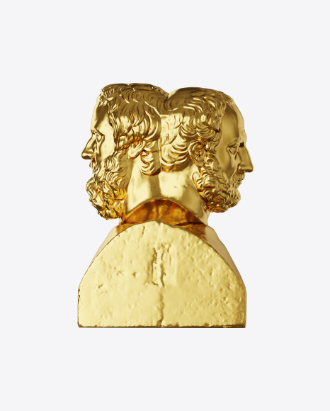 Golden Double Herm of Herodotus and Thucydides