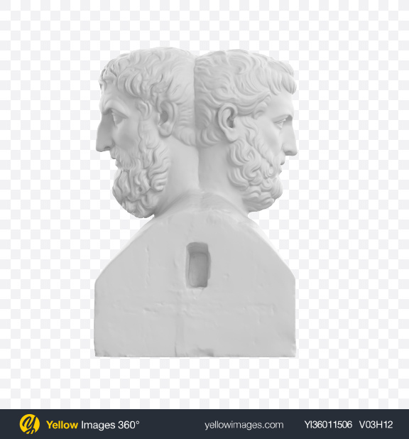 Download Double Herm of Epicurus and Metrodorus Transparent PNG on YELLOW Images