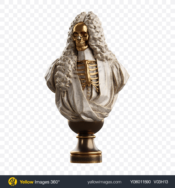 Download Bust of Man with Golden Details Transparent PNG on YELLOW Images