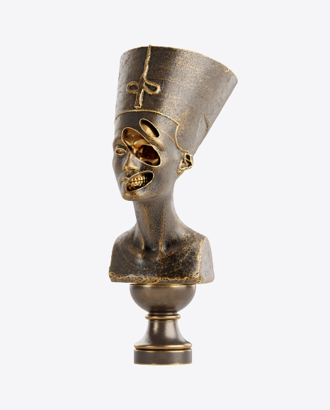 Bust of Nefertiti with Golden Details