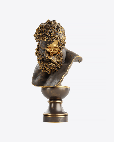 Bust of Man with Golden Details