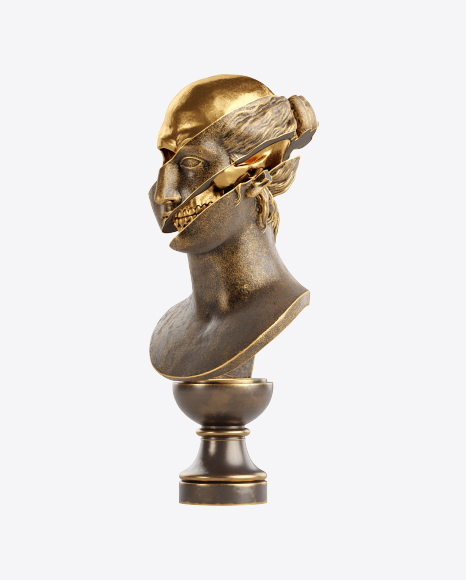 Bust of Woman with Golden Details