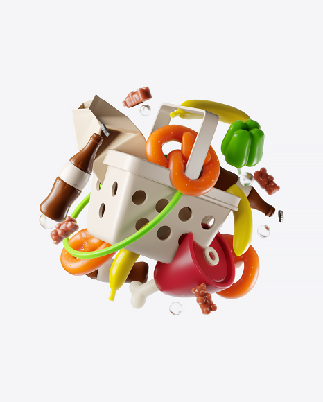 Abstract Food Set