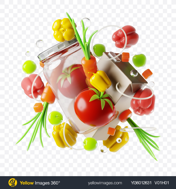 Download Abstract Food Set Transparent PNG on YELLOW Images