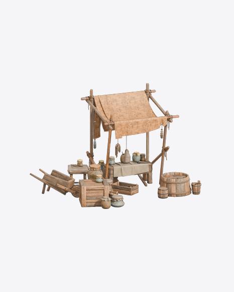 Medieval Market Stand