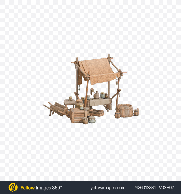 Download Medieval Market Stand Transparent PNG on YELLOW Images