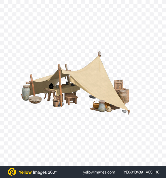 Download Medieval Market Tent Transparent PNG on YELLOW Images