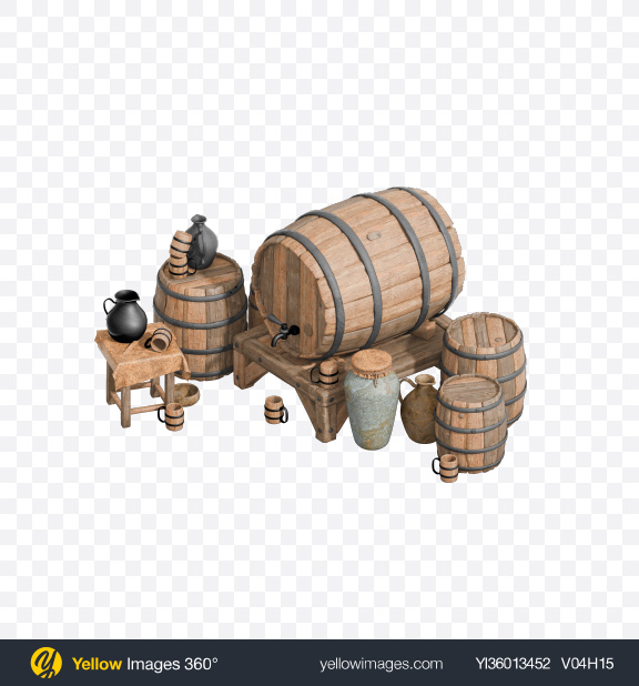 Download Brewing Barrels Transparent PNG on YELLOW Images