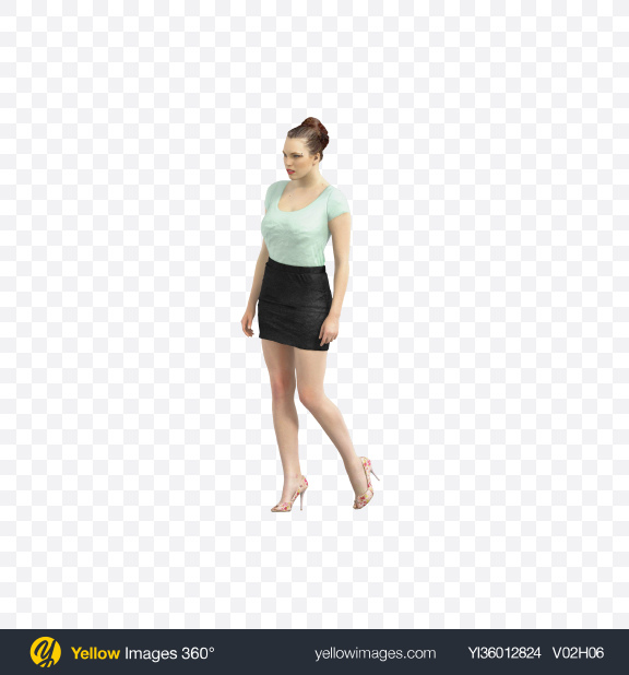 Download Woman Walking Transparent PNG on YELLOW Images