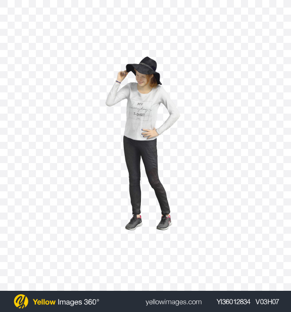 Download Girl in Hat Transparent PNG on YELLOW Images