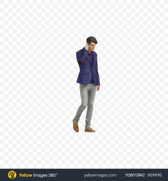Download Man Speaking on the Phone Transparent PNG on YELLOW Images