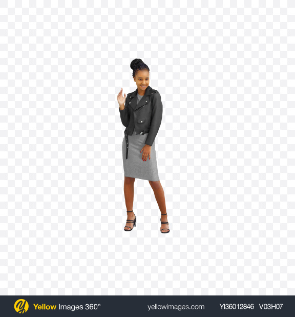 Download Woman Waving Hand Transparent PNG on YELLOW Images