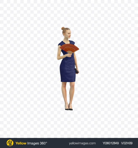 Download Woman Holding Fan Transparent PNG on YELLOW Images