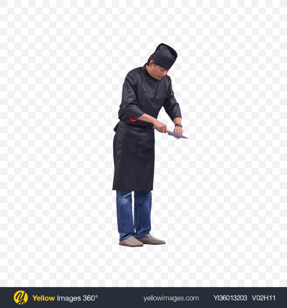 Download Cook with Knife Transparent PNG on YELLOW Images
