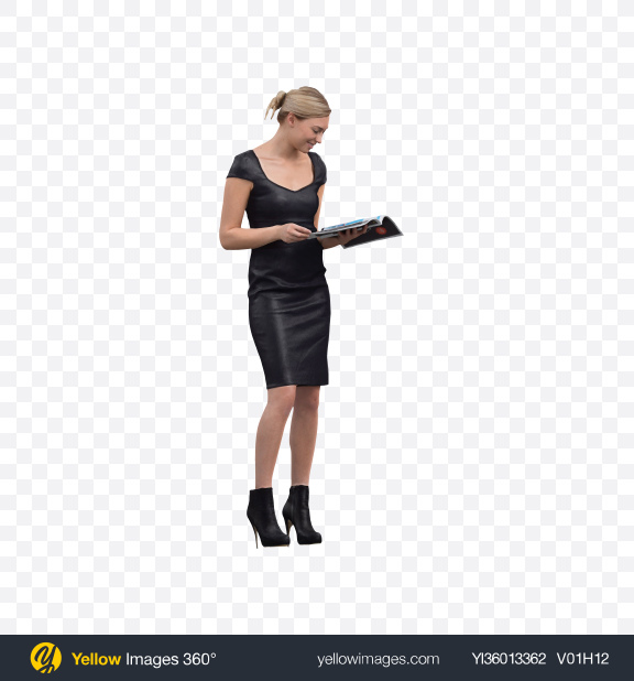 Download Woman Reading Journal Transparent PNG on YELLOW Images