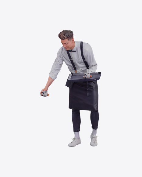 Waiter Offering Cup