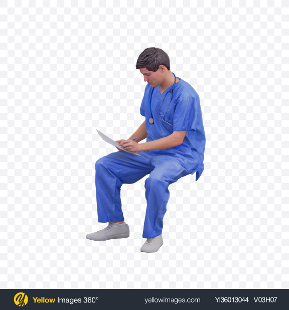 Download Doctor Sitting Transparent PNG on YELLOW Images