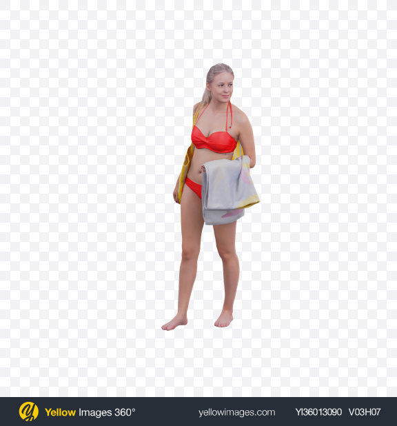 Download Woman in Swimsuit Transparent PNG on YELLOW Images