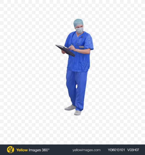 Download Doctor in Mask Transparent PNG on YELLOW Images