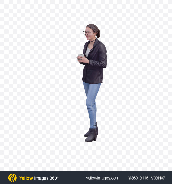 Download Woman Standing Transparent PNG on YELLOW Images